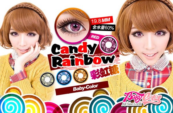 candy rainbow red