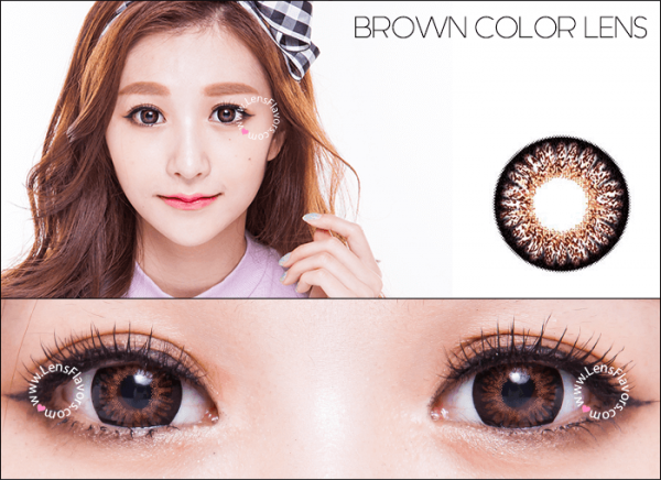 softlens geo princess mimi brown
