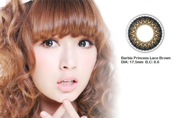 softlens barbie princess lace brown