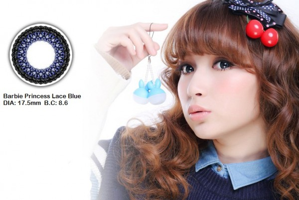 softlens barbie princess lace blue