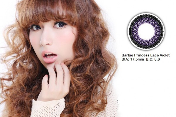 softlens barbie princess lace violet