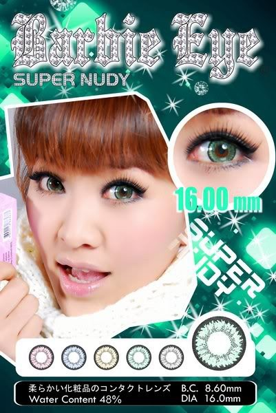 barbie super nudy green
