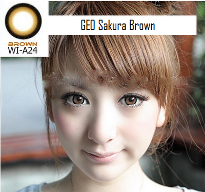 softlens geo sakura brown