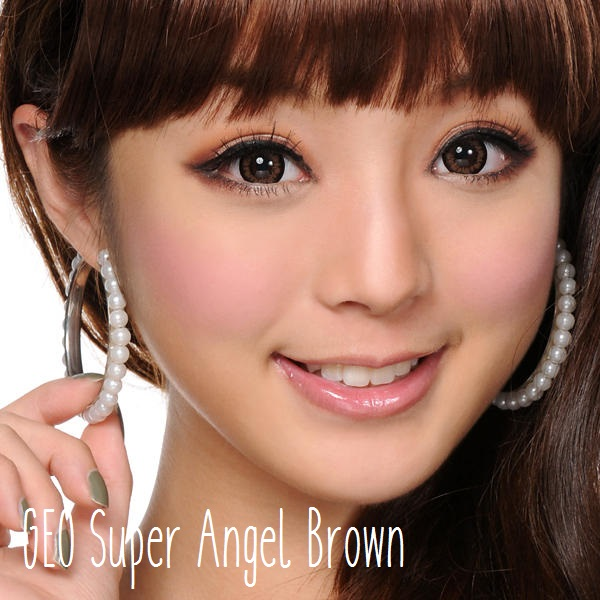 softlens geo super angel brown coklat xcm-214