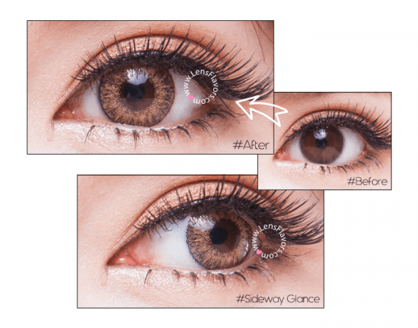 softlens geo magic 3 tone brown