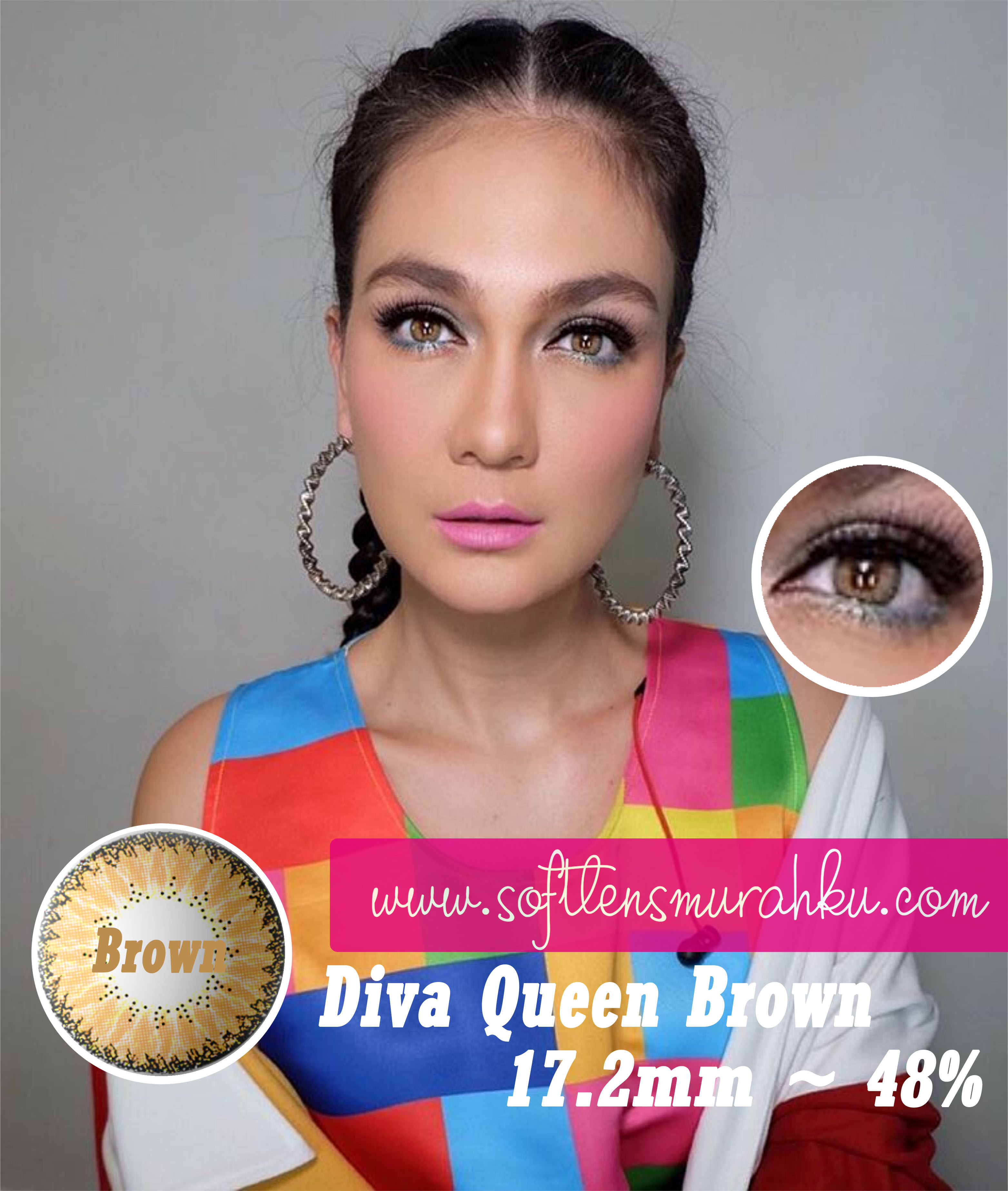 Jual Softlens Diva Queen Eos Free Ongkir Softlensmurahku X2 Soflens 142mm