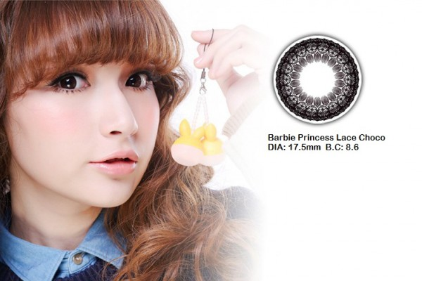 softlens barbie princess lace choco