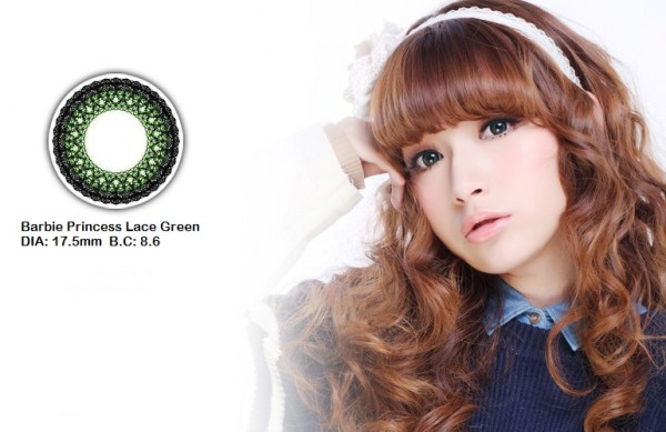 softlens barbie princess lace green