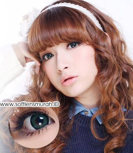 softlens barbie princess lace green 2