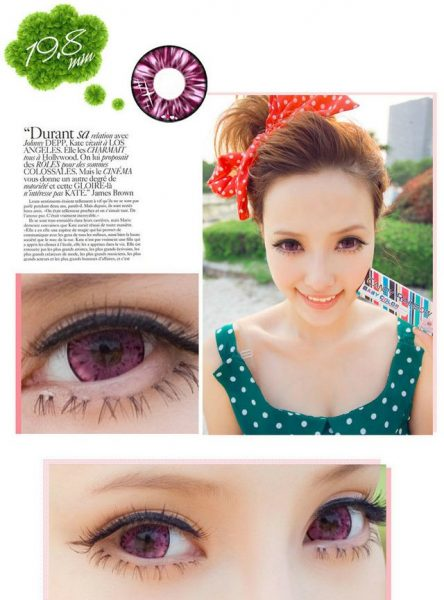 softlens candy rainbow red