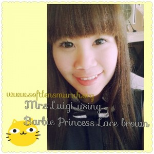 testimoni softlens barbie princess lace brown