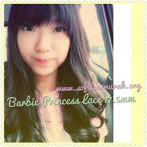 testimoni softlens barbie princess lace green