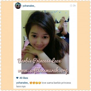 testimoni softlens barbie princess lace black