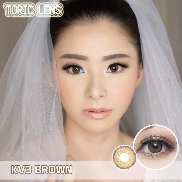 toric lens brown