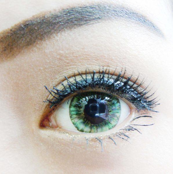 softlens vivian eye pineapple green