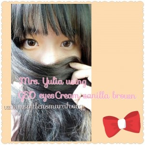 testimoni softlens geo eyescream brown