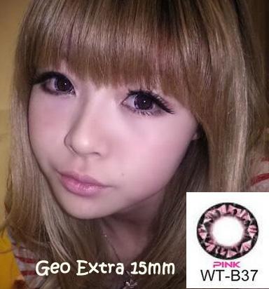 geo diamond pink
