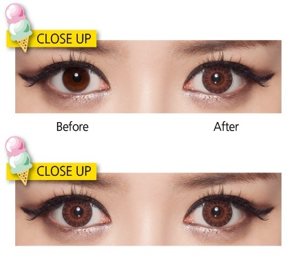 softlens geo eyescream vanilla brown