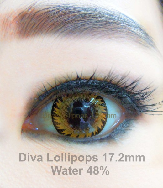 softlens diva lollipops brown