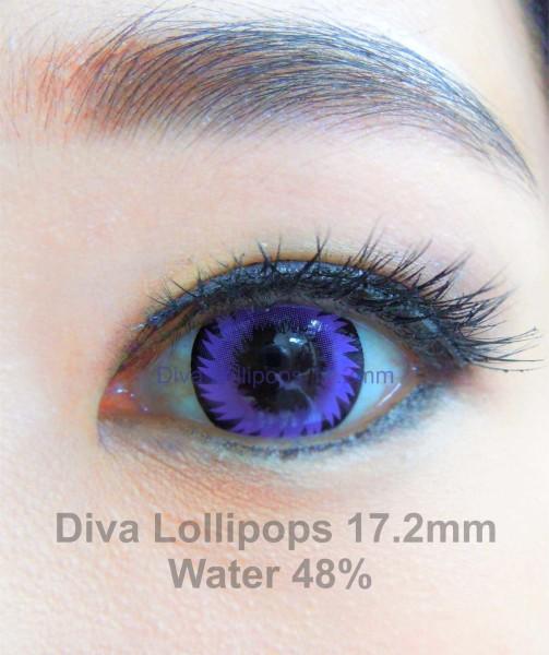 softlens diva lollipops violet