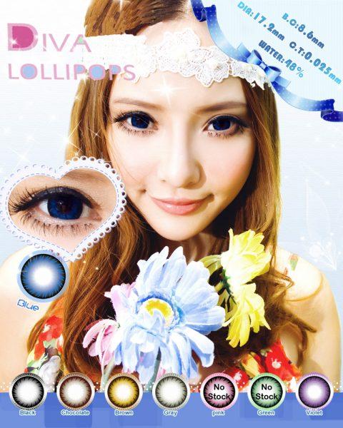 softlens diva lollipops blue