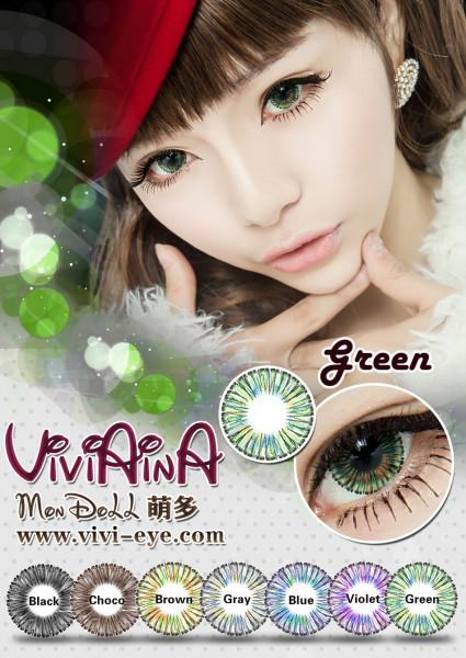 softlens Viviaina mondoll green