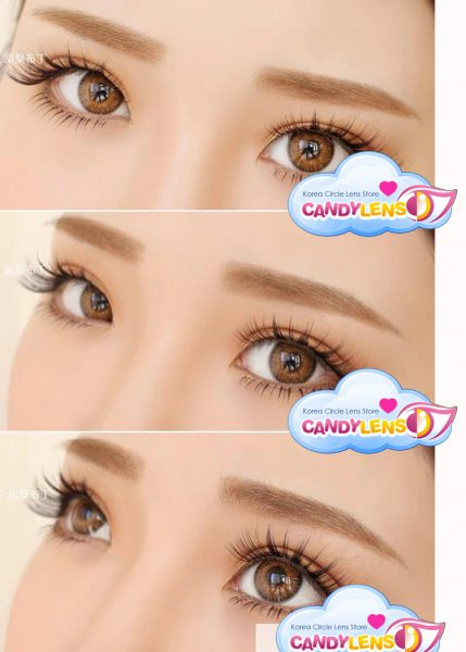 Softlens eos rainshower brown detail
