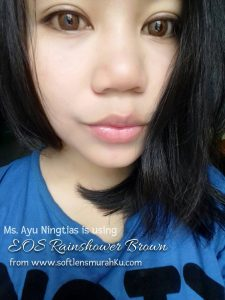 review eos rainshower brown sis ayu ningtias 2