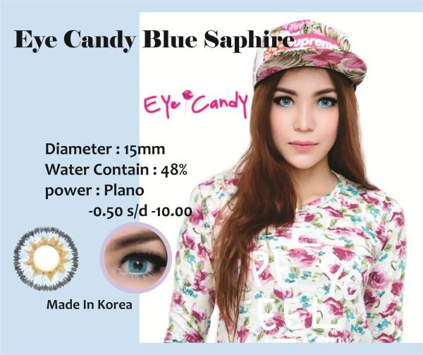 Softlens Eyecandy Bulle Saphire Blue