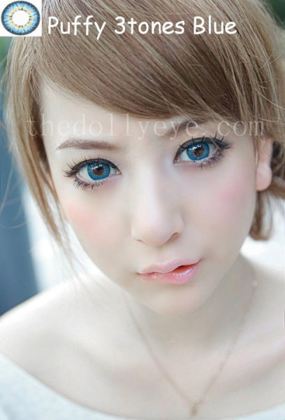 softlens puffy 3 tones blue