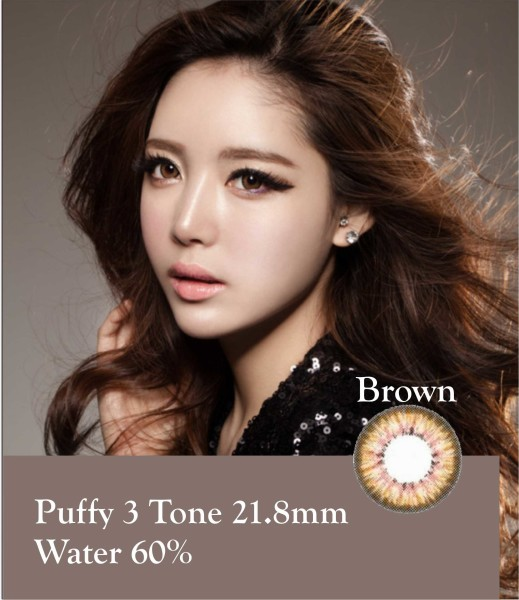 puffy brown softlens