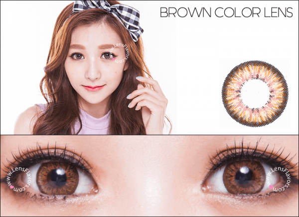 softlens puffy 3 tones brown