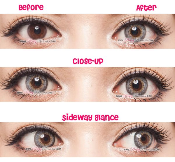 puffy 3 tones grey softlens