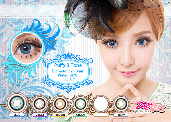 softlens puffy blue