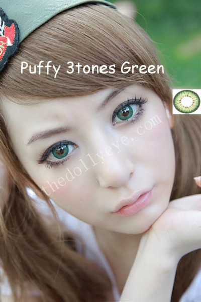 softlens puffy 3 tones green