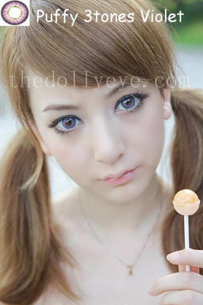 puffy 3 tones violet softlens