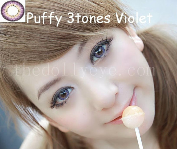 softlens puffy 3 tones violet