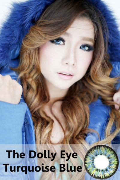 dolly eye glamour turquise blue