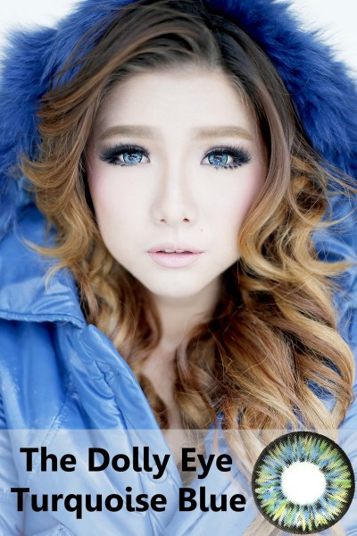 softlens dolly eye glamour turquise blue