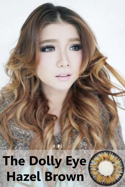 softlens dolly eye hazel brown