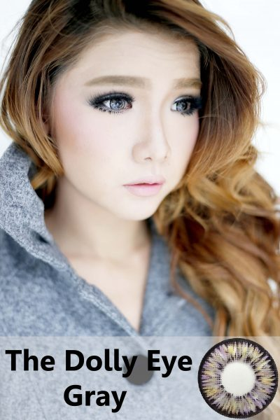 softlens dolly eye grey softlens abu abu diameter besar