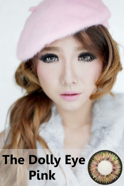 softlens dolly eye glamour pink