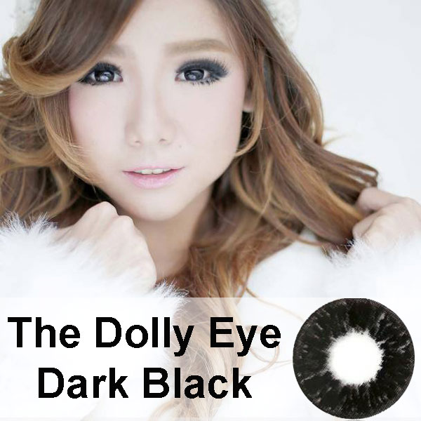 dolly eye black softlens hitam diameter besar