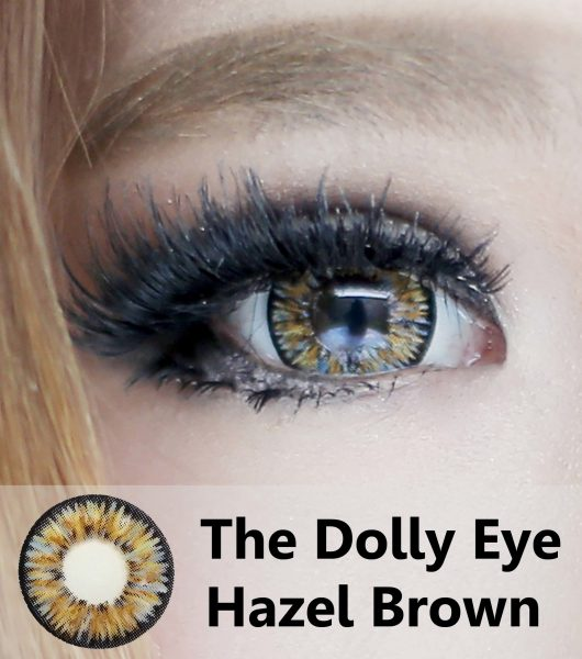 detail softlens dolly eye hazel brown