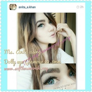 testimoni softlens dolly eye glamour turquise blue