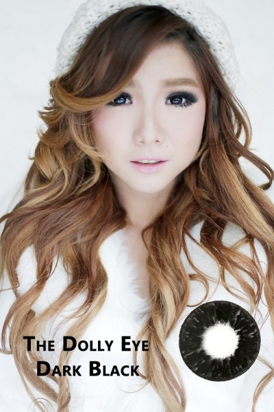 softlens dolly eye glamour black
