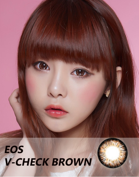 softlens eos v-check brown