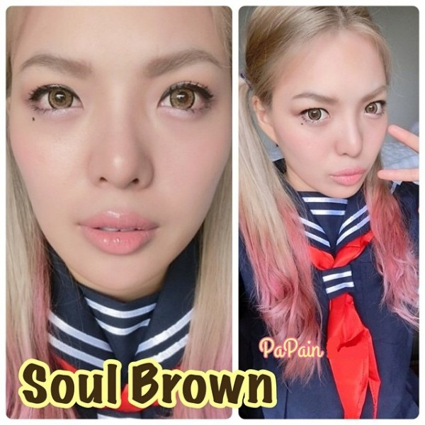 soul brown softlens