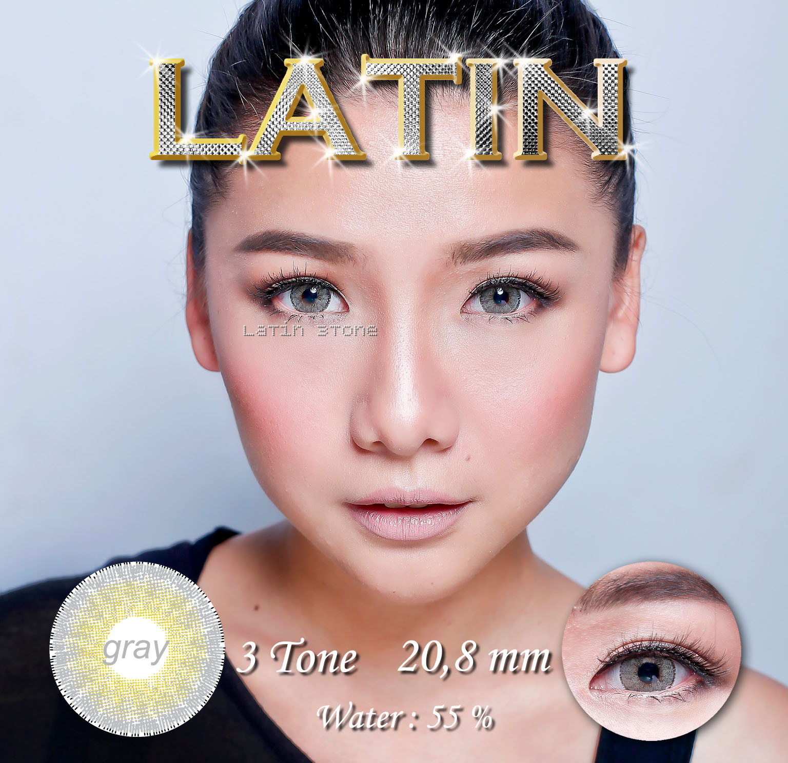 Eyezone Zahara Softlens Black Gratis Lenscase 3. Source · Softlens LATIN 3 Tone 20.8mm .