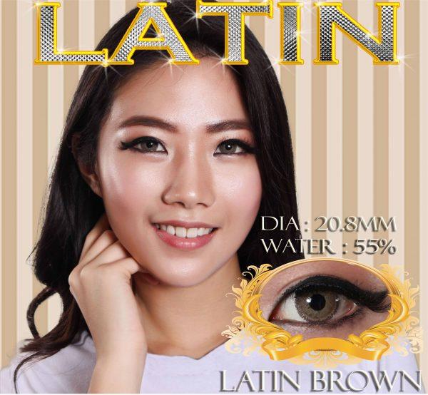 softlens latin 3 tone brown